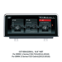8.8″ touch screen android car multimedia for BMW 1 Series F20/F21(2011-2016) 2 Series F23 Cabrio (2013-2016) NBT system EVO UI 1