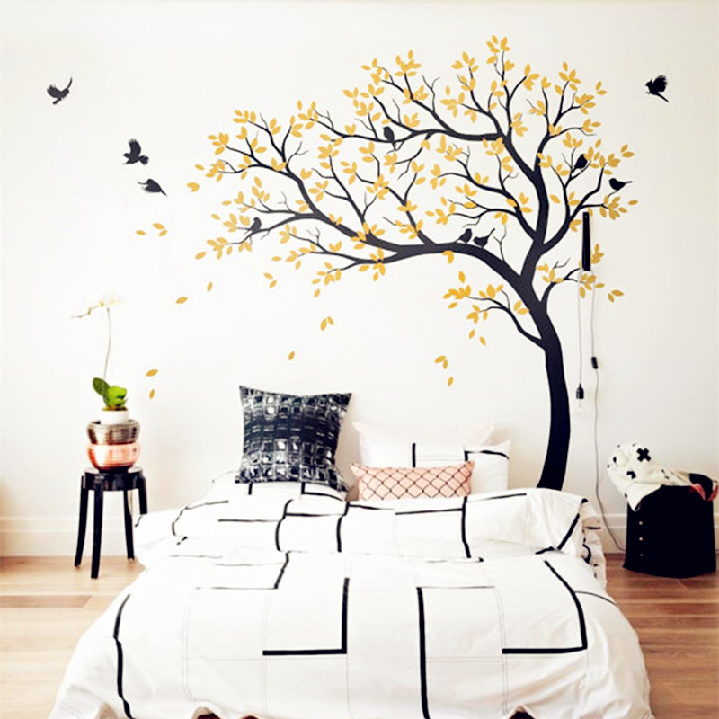 White Tree Decals Huge Nursery Tree With Birds Sticker Removable Vinyl Wall  Art Home Decor Baby Nursery Bedroom Decoration In Wall Stickers From Home  ...
