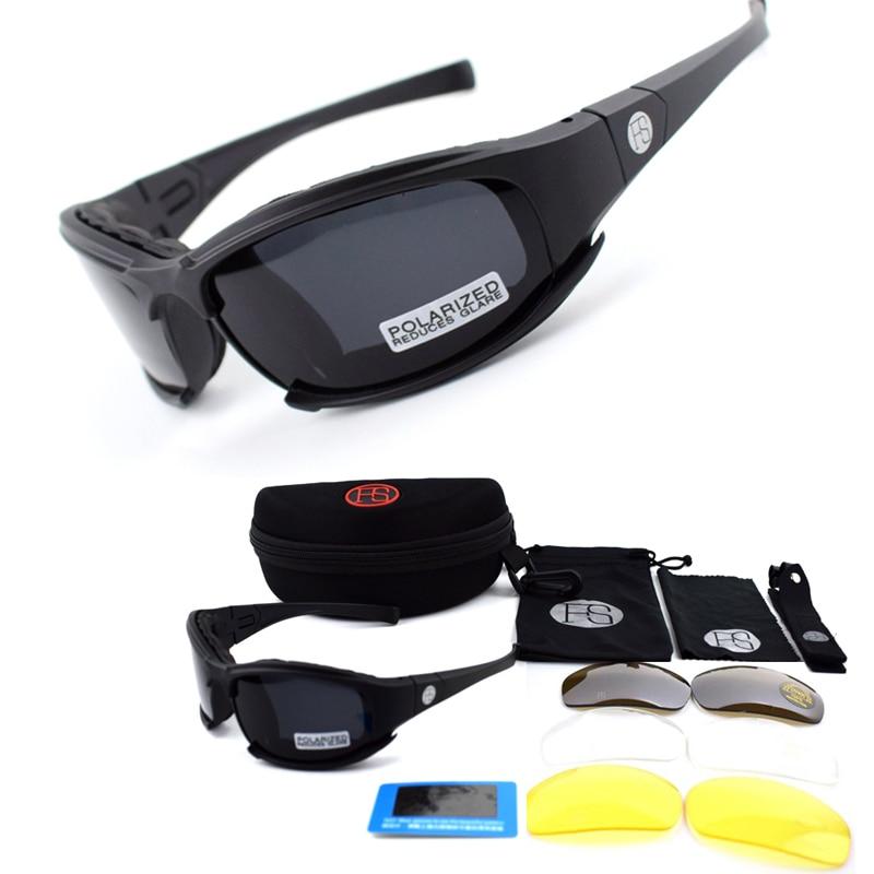 все цены на X7 / C5 Hunting Airsoft Tactical Goggles Military Army Shooting Glasses Polarized Hiking Sunglasses 4 Lens Cycling Eyewear онлайн