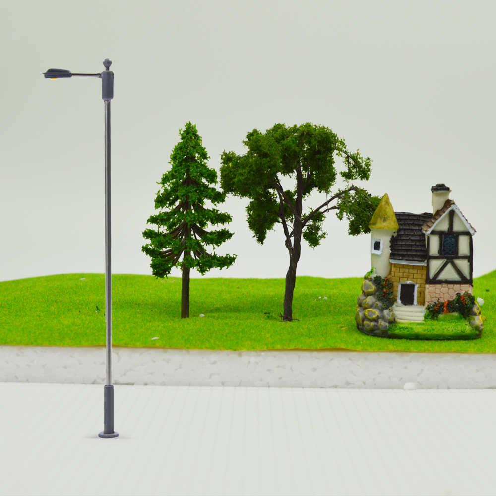 1/75-1/300 skala LED architektoniczny lampa kolejowej światła uliczne oświetlenie dla modelu Railrpad krajobraz metalowe
