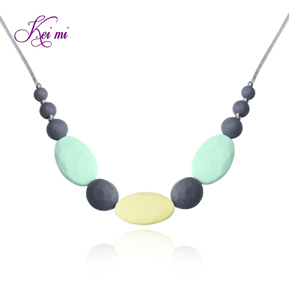 New fashion jewelry silicone beads pendant necklaces women simple Bohemia necklace font b christmas b font