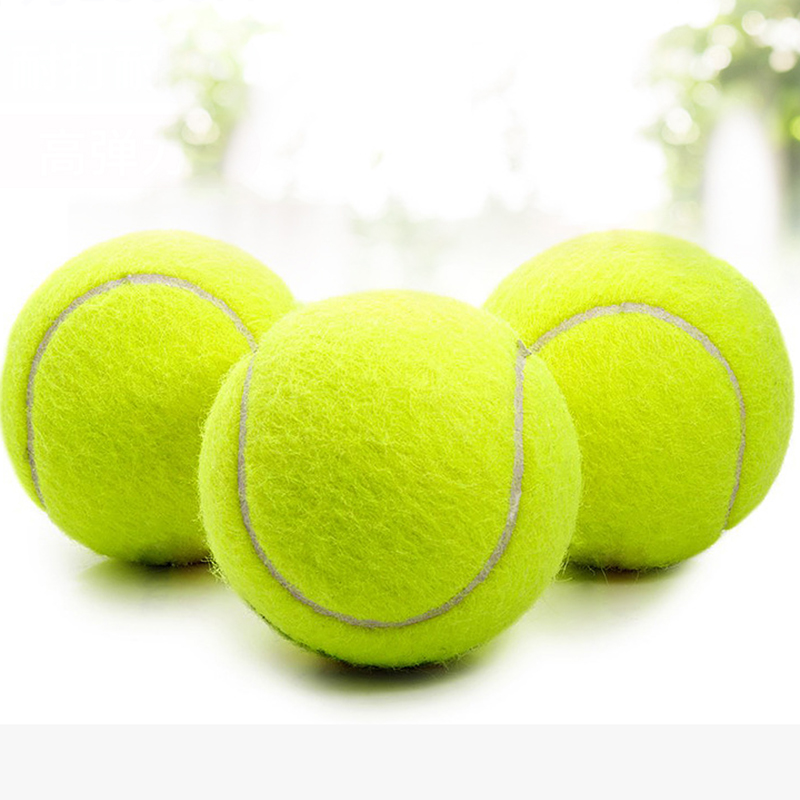1PCS Yellow Tennis Balls Sports Tournament Outdoor Fun Cricket Beach Dog High Quality Tennis Practice Ball