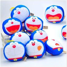 5pec/lot New Novelty Toys Cartoon Anime Doraemon Toys Doraemon Figure LED Keychains Kids Toys Creative Gifts free shipping