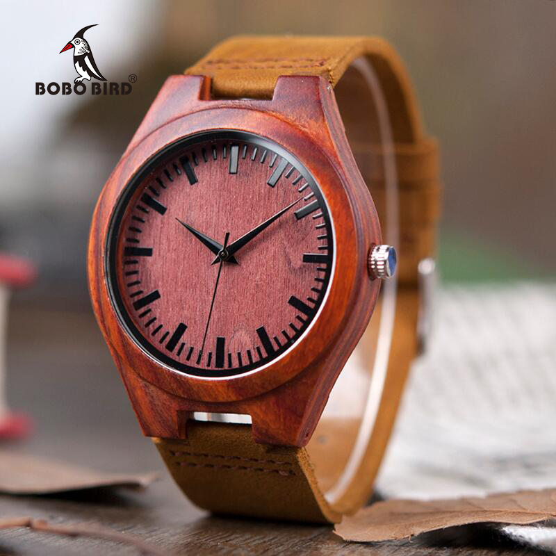 BOBO BIRD V-L15 Rose Wood Watch Mens Simple Gift Item Japan 2035 Movement Quartz Watch for Male New Arrival 2018