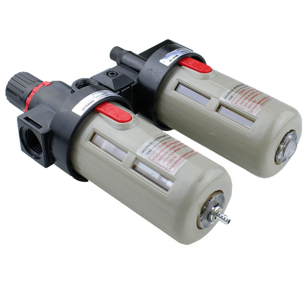 """Image 5 - BFC4000 Free Shipping 1/2"""" Air Filter Regulator Combination Lubricator ,FRL Two Union Treatment ,BFR4000 + BL4000-in Pneumatic Parts from Home Improvement"""