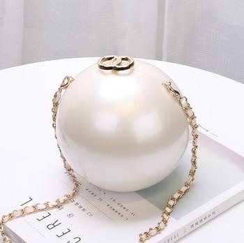 Portable Pearl Makeup Hard Box Clutch Bag
