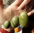 gift bag packing natural green stone drilled jade eggs 3 pcs set yoni eggs for kegel exercise