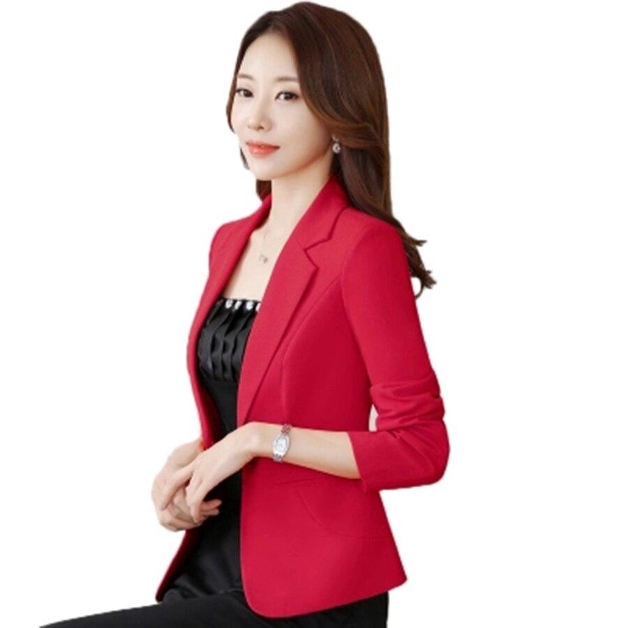 Spring Women Blazer Suits Slim Short Sleeve Red Casual Blazers Women Mantel Damen Jas Dames Louson Femme Ladies Coats QB25