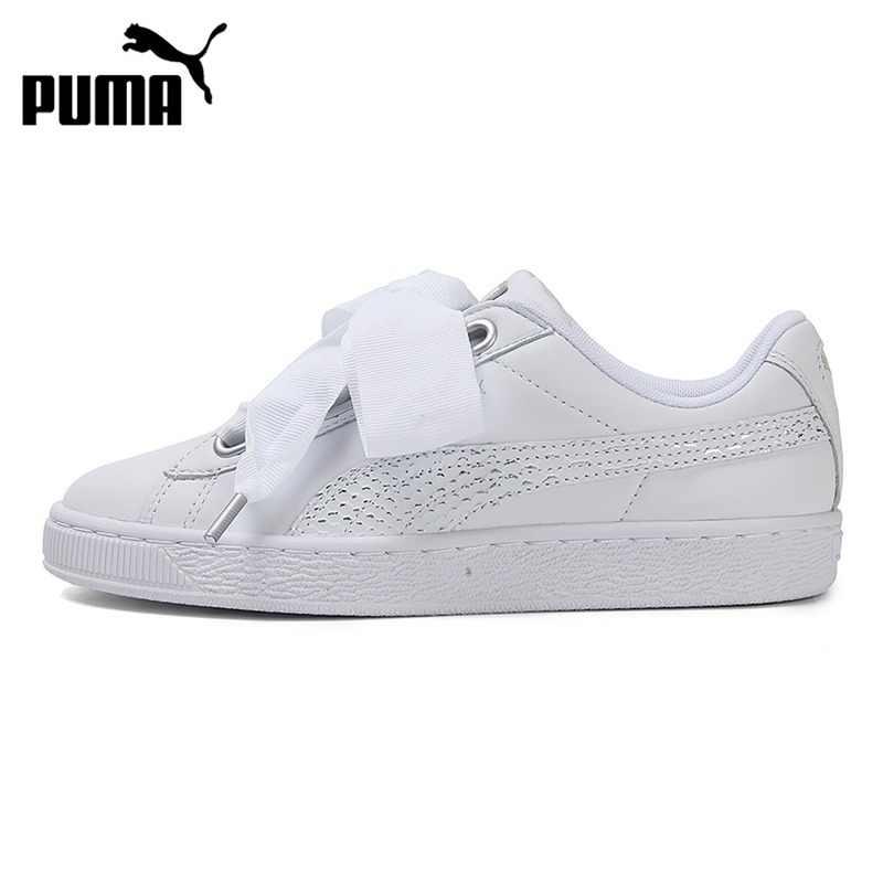 830f880dd61c31 Original New Arrival 2018 PUMA Basket Heart Oceanaire Women s Skateboarding Shoes  Sneakers