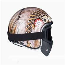 New arrival helmets open face 3/4 helmet personalized mens womens vintage retro motorcycle cascos de motociclistas