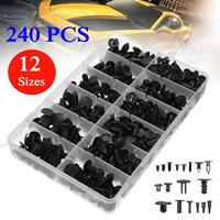 240Pcs Auto Vehicle Car Push Pin Plastic Bumper Rivet Trim Clip Panel Body Interior Retainer Plastic