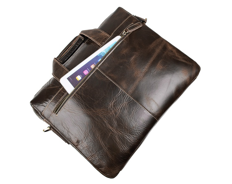 Free Shipping JMD 100% Real Leather Men's Briefcase Handbag Laptop Bags # 7167C-1