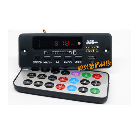 dc 12V Bluetooth Receiver Module MP3/WMA/WAV decoder board Digital LED player FM radio for diy Amplifier speaker