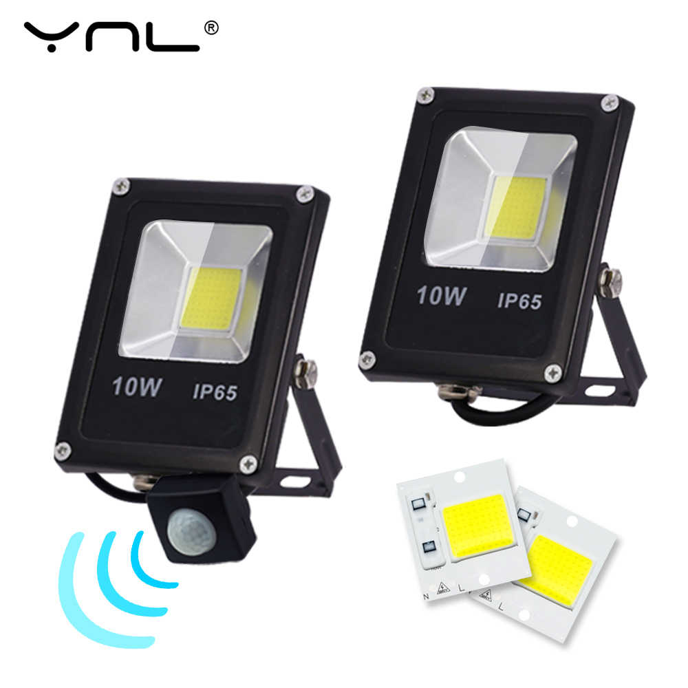 Motion Sensor LED Flood Light 10W 220V Floodlights Outdoor lighting searching Lamp IP65 Reflector foco led exterior Spot Light