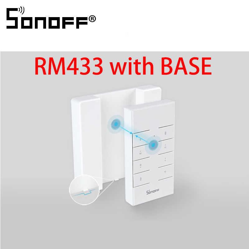 SONOFF RM433 podstawa 8 klucze uniwersalny niestandardowe 433 MHz pilot RF współpracuje z RF/Slampher/4CH Pro/TX serii/RF most