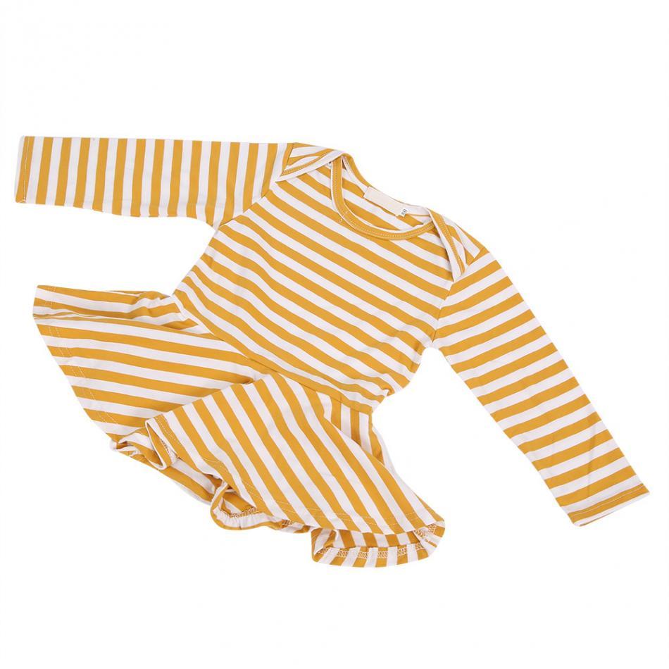 От 0 до 18 месячный ребенок, Детский боди с длинными рукавами для девочек, хлопковый наряд из трех предметов с рюшами и рукавами-крылышками, комбинезон с открытой промежностью