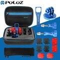 Puluz 13 em 1 de metal cnc go pro acessórios kit combo com caso eva para gopro hero4 session/4/3 +/3/2/1, parafusos, montagens, saco