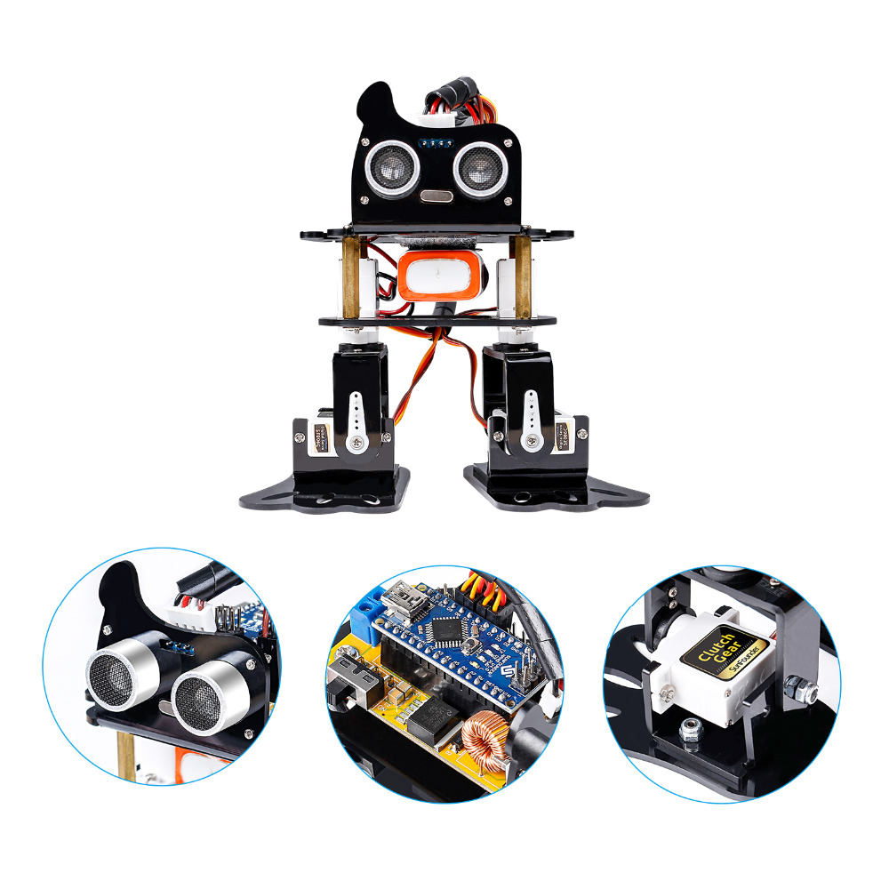 Image 3 - SunFounder DIY 4 DOF Robot Kit  Sloth Learning Kit for Arduino Nano  DIY Robot-in Integrated Circuits from Electronic Components & Supplies