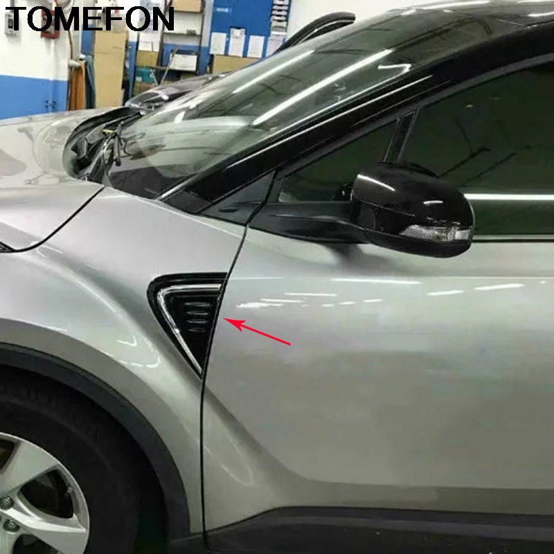 Accessories Front  Light Lamp Cover Trim Car StylingFor Toyota C-HR 2016 2017