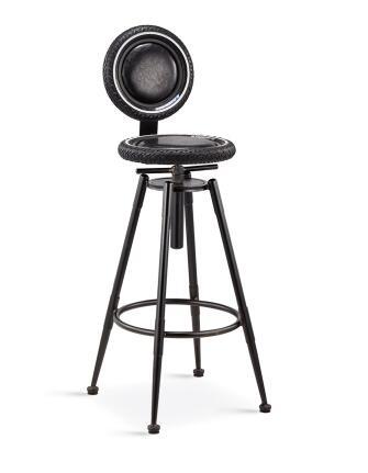 Купить с кэшбэком Bar Chair Lift Rotary Backrest Chair American Tire Highchair Bar Stool Salon Chair Work Bench.