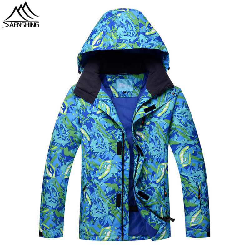 цены SAENSHING Winter Ski Jacket Snowboard Coat Men Waterproof Warm camouflage Snow Jacket skiing and snowboarding ski clothing M-3XL