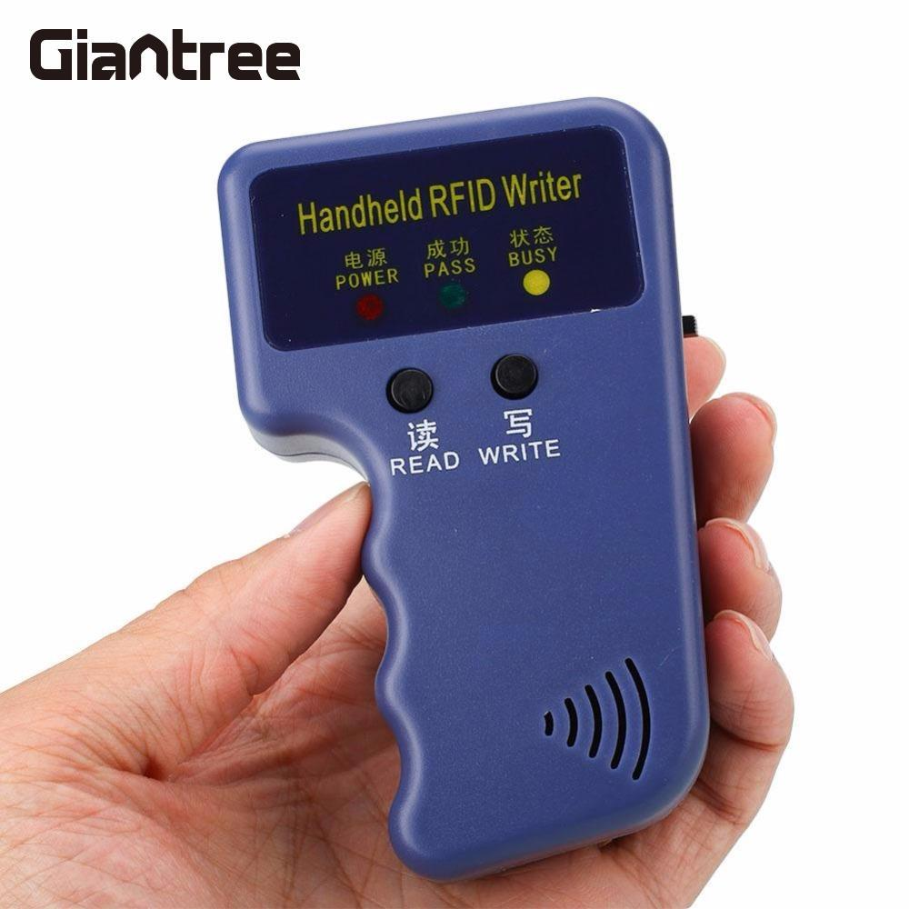 Giantree RFID Handheld 125KHz Access Card Copier Writer Duplicator Programmer 6 Rewritable Tags Access Control