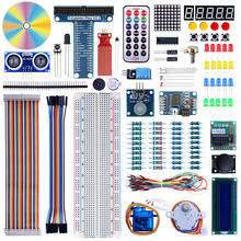 Elecrow New 2 in 1 DIY Starter Kit for Arduino Raspberry Pi 3 Starter Kit Learning Suite LCD1602 Display SG90 Servo Relay Sensor keyes kt0005 starter learning kit for smart house electronics