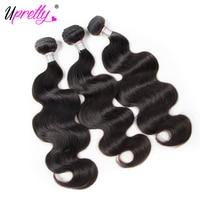 Upretty Włosów Tanie Wiązki Włosów na Sprzedaż Indian Remy Włosów ciało Fala 3 Wiązek Oferty Ludzkich Włosów Rozszerzeń Natural Color tka