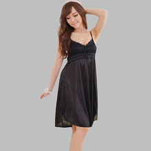 Fashion Sexy Lingerie Nightgowns Female Indoor Clothing Spaghetti Strap V-neck Shorts Sleepshirts Night Dress Women Underwear