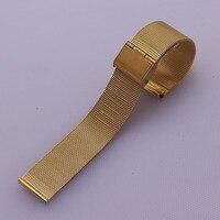 14ミリメートル16ミリメートル18ミリメートル20ミリメートル22ミリメートル高品質ゴールドフラットエンドステンレススチール時計バンドブレスレット用男性手首クォーツ時計を折るバックル