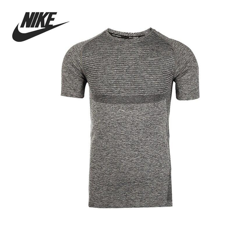 7a4b5cca25 Original Nike dri-fit knit SS hombres Correr Camisetas manga corta ropa  deportiva