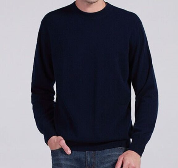 Mens Cashmere Jumper Winter Autumn O-Neck Long Sleeve Sweater Soft Warm Pullover JX1