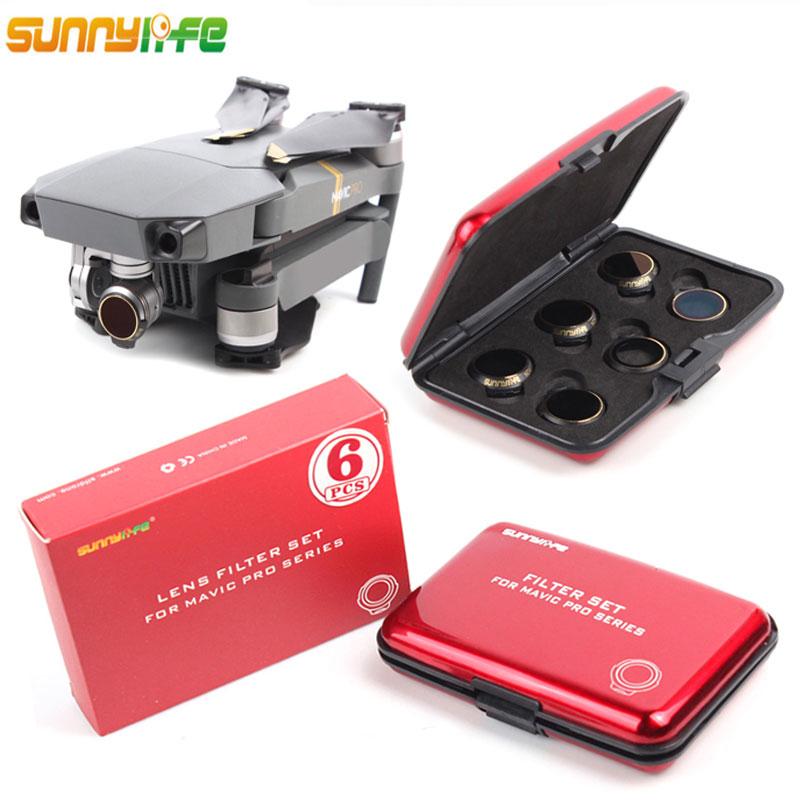 3/4/6pcs/set Multi-Layer Coating Film MCUV/CPL/ND4 ND8 ND16 ND32 Filter Lens Protector for DJI MAVIC PRO & PLATINUM drone цена