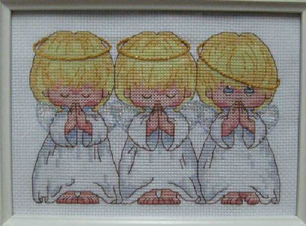 FREE Shipping Top Quality Popular Counted Cross Stitch Kit Almost Perfect 3 Little Angels