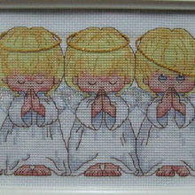 Cross-Stitch-Kit Counted Perfect Almost 3-Little-Angels Top-Quality Popular