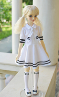 BJD doll dress navy style dress set with 2 colors into 1/4 1/3 MSD SDFF tert doll accessories (only skirts)