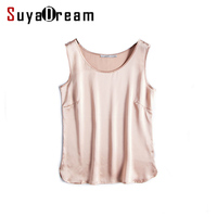 100 Pure REAL SILK Women Tank Tops Basic Solid Tank Sleeveless Top Femininas Satin Shirt Black