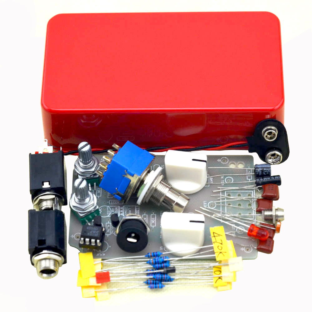 diy compressor guitar effect pedal kits with red 1590b true bypass free shipping in guitar parts. Black Bedroom Furniture Sets. Home Design Ideas