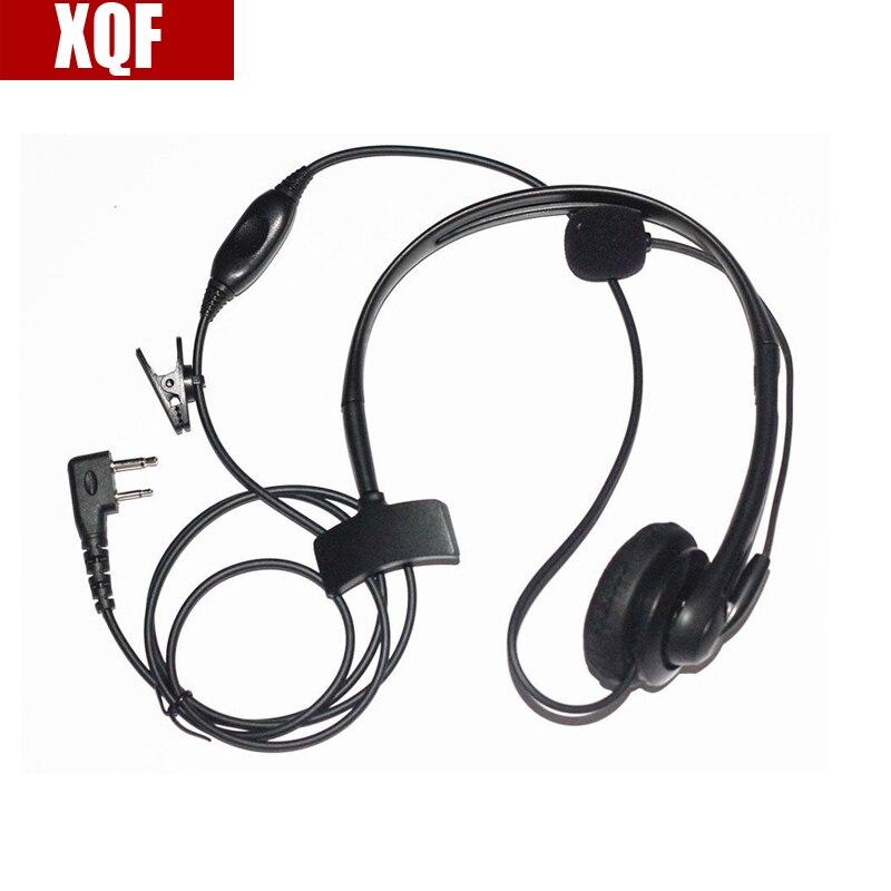 XQF Maximal Power 2 Way Radio Surveillance Earpieces For ICOM 2 Pins Plug, Compatible For ICOM F3G, F4G, F11, F11S, F14, F14S