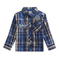 2015 Nova brand children clothes fashion design plaid shirt autumn opened turn-down shirt long sleeve baby boys t shirt for 2-6y
