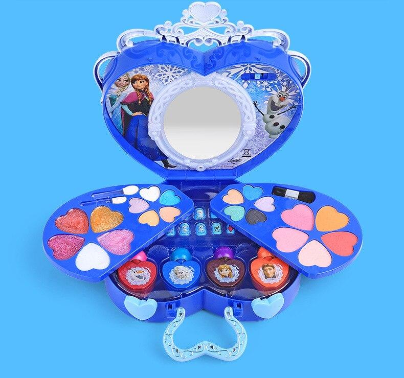 Disney Замороженные Портативный косметических Детская косметика Снежная принцесса макияж игрушки для детей подарок на день рождения претенд