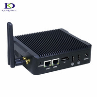 with 2*HDMI 1*DP three display Quad Core Celeron N3160 Fanless Mini PC PFsense As Router Firewall Server Computer Dual LAN NICS