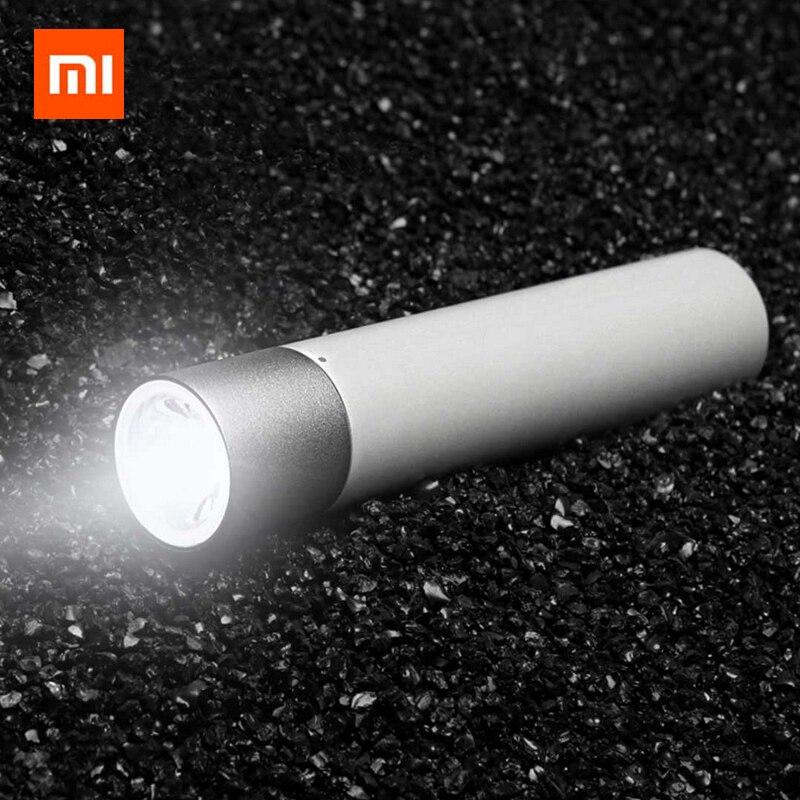 Nuovo Arrivo Xiaomi Portatile Torcia Elettrica Regolabile Luminosità Modalità Della Lampada Girevole Testa Porta USB di Ricarica Batteria 3350 mAh Al Litio