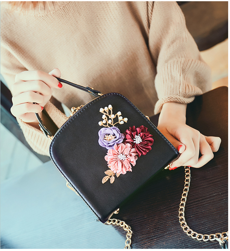 Women crossbody bag female messenger bag with long and short strap fashion designs flowers 46