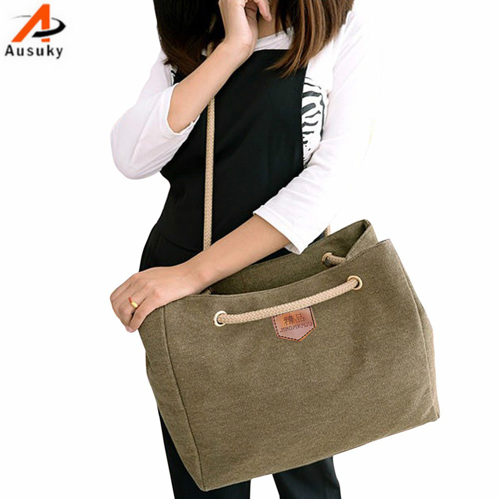 New Summer Korean Fashion Handbags Female Package Casual Canvas Shoulder Bag Lady Diagonal Package Simple Style Hot Sale 35 summer korean version shoulder bags double pull pu cartoon girls handbags fresh lady messenger bag fashion leisure package