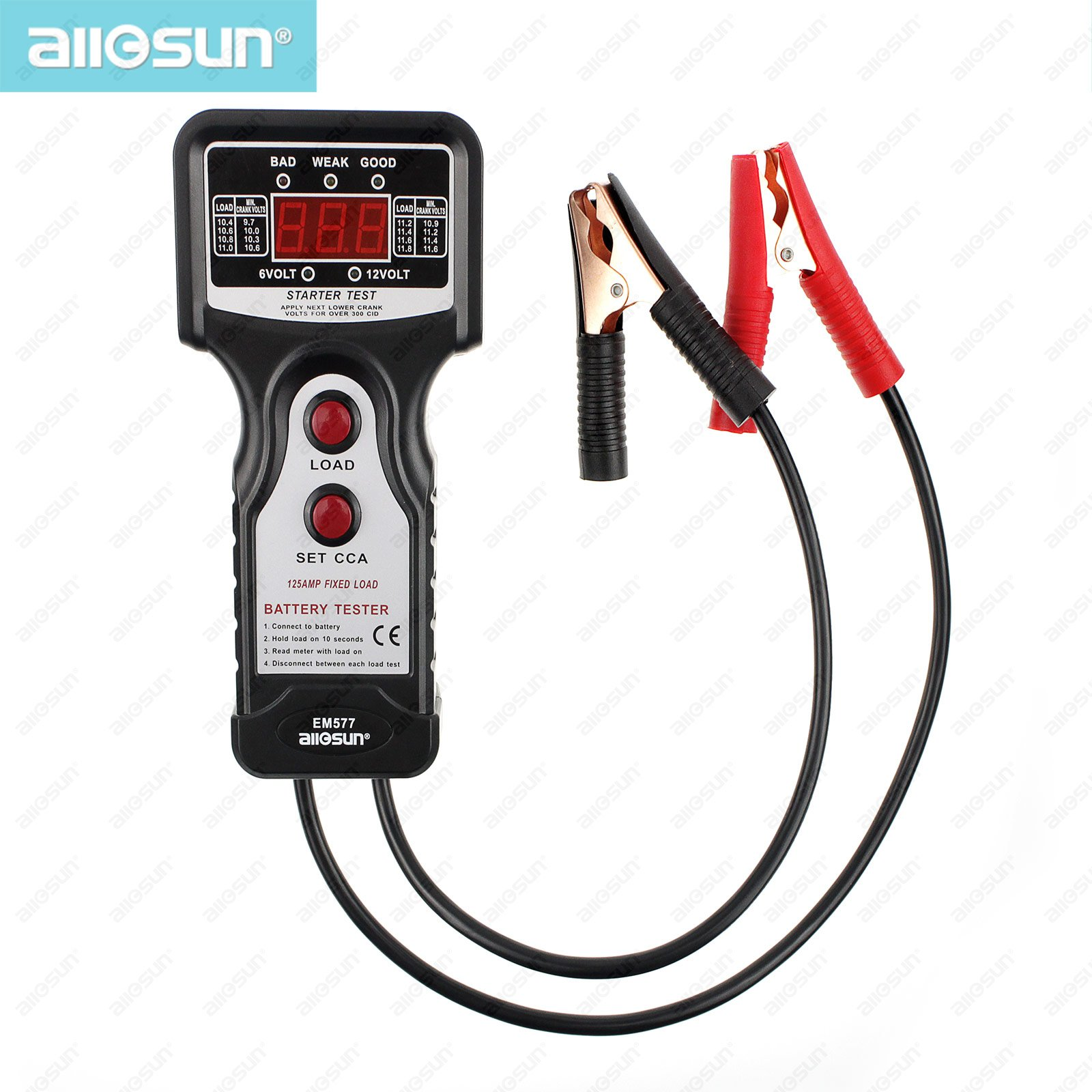 All-Sun EM577 12V CCA Digital Automotive / Car Battery Tester for ColdTemperature Battery Load Charging Voltage Starter Motor