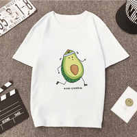 Sommer Harajuku Kawaii Avocado T-shirts Vegan Grafik Plus Größe Frauen T-shirt Cartoon Frische Vogue Oansatz Tees Shirts Femme Tumblr