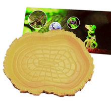 New Arrival Reptile Tortoise Water Dish Food Bowl Amphibians Gecko Snakes Lizard Feeding Dish 12.5x9x1.5cm