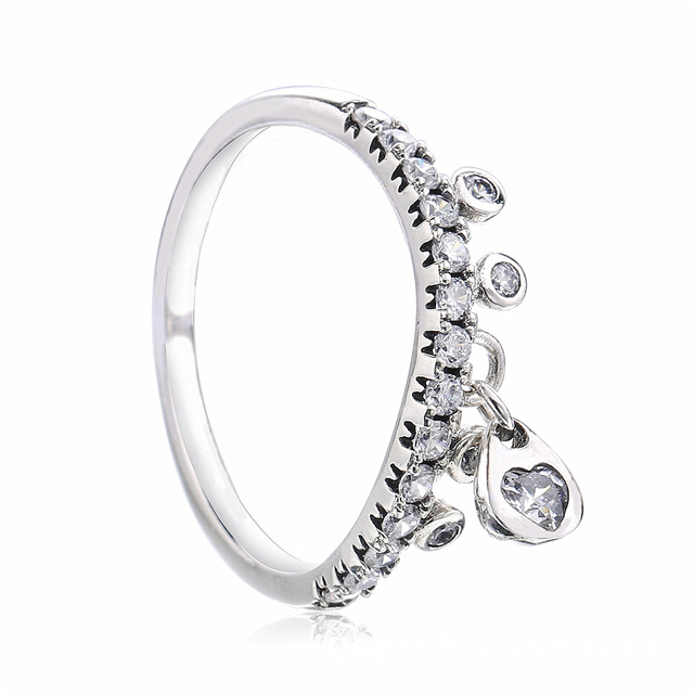 fba4dcb3a Authentic 925 Sterling Silver Original Chandelier Water Droplet Pandora Ring  For Women Charm Gift Diy Jewelry