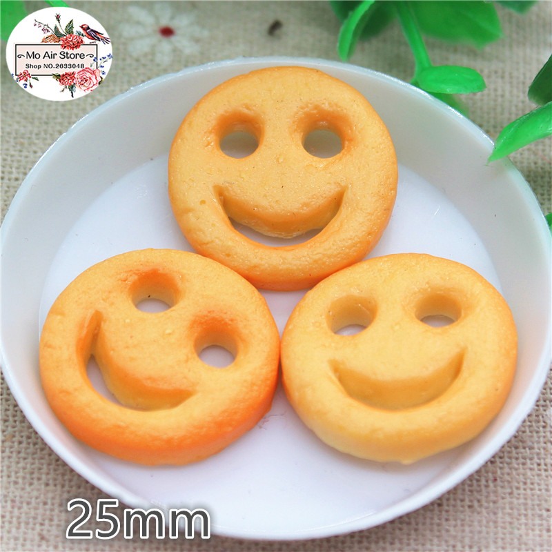 10PCS Onion Rings Resin 3D Flat Back Cabochon Imitation Food Art Supply Decoration Charm Craft